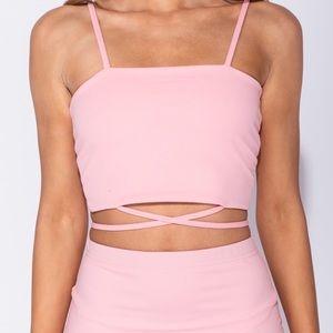 Pink Wrap Top!